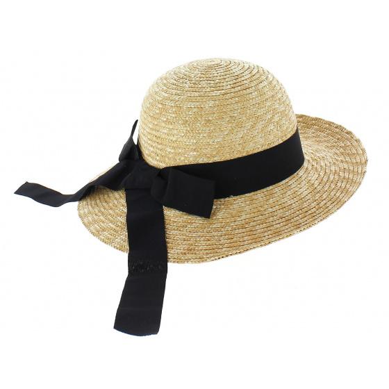 Capeline Fine black straw