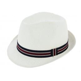 Chapeau Enfant Carpinetto Paille Papier Blanc - Crambes