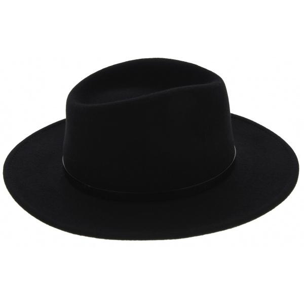 Chapeau Traveller Toledo Feutre Laine Imperméable Noir - Traclet