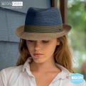 Trilby Block Blue & Grey Hat
