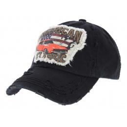 Strapback Classic America Black Cotton Cap - Kbthos