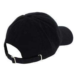 Black Cotton Strapback Cap - Kbethos