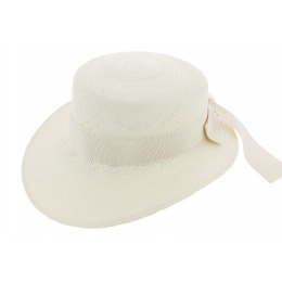 Casquette Femme Panama Guiditta Ruban Blanc