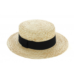 Natural Straw Boater Traclet