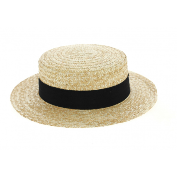 Boater Hat Natural Straw- Traclet