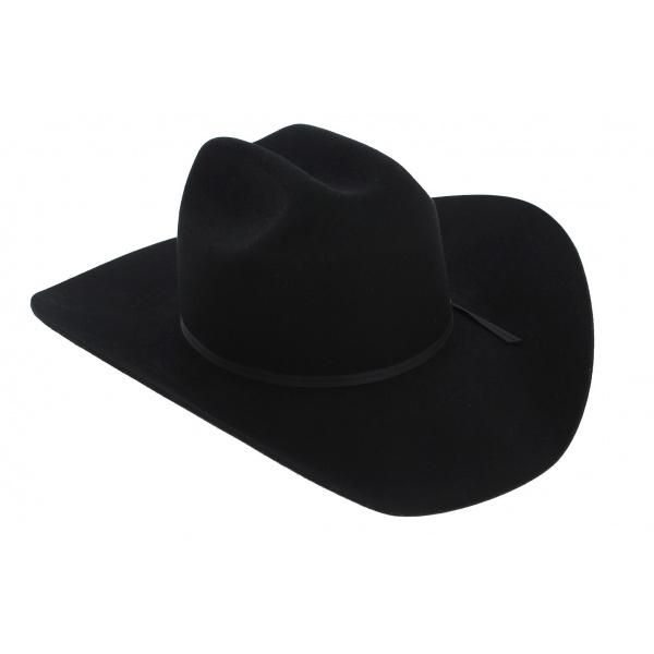 Chapeau Cowboy Cattleman Feutre Laine Noir - Stetson
