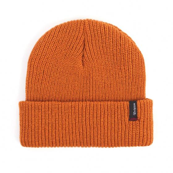 Heist Orange Knit Cap- Brixton