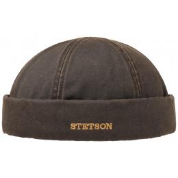 Bonnet Docker Quimper Marron Coton - Stetson