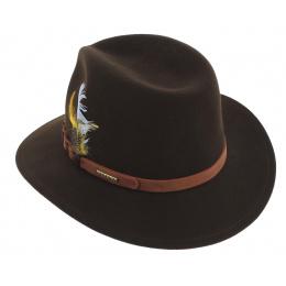 Traveller Thompson Brown Wool Felt Hat - Stetson