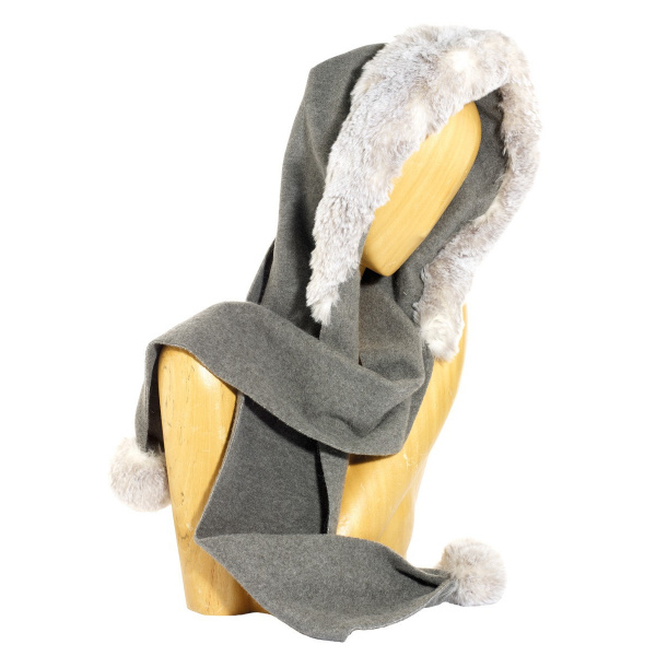 Norell Fleece Hood Grey