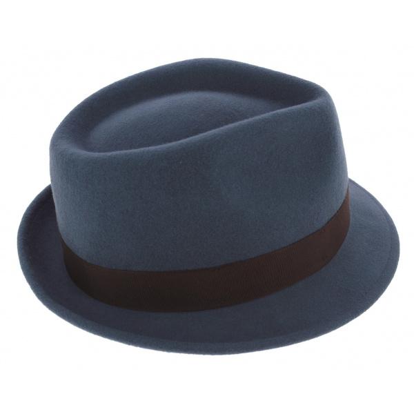 Chapeau Trilby Richmond Feutre Laine Bleu - Stetson