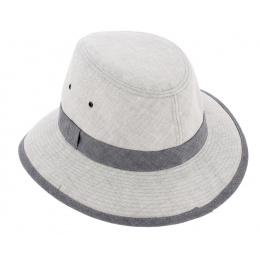 Manyara Safari Hat Grey Linen - Crambes