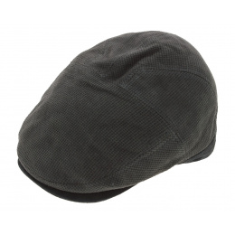 Casquette Plate Princeton Cuir Anthracite - Aussie Apparel