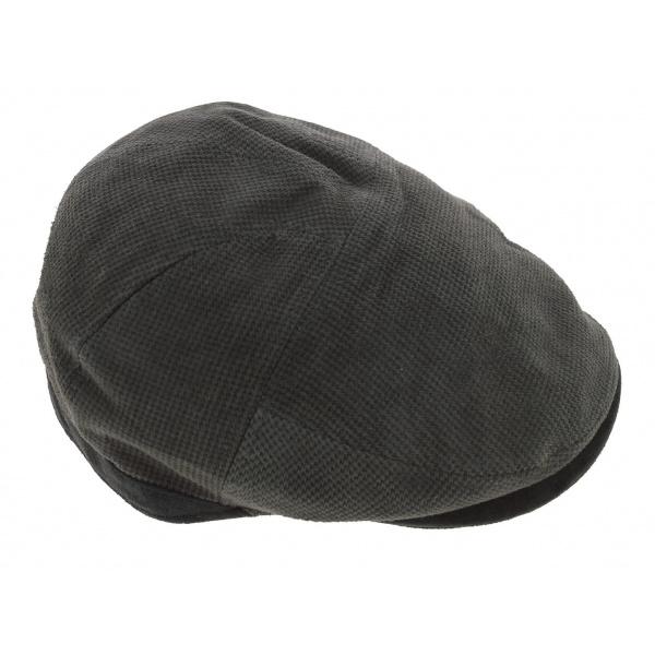 Casquette plate carreaux gris - Ethos