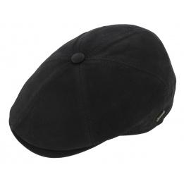 Casquette Tours cuir noir