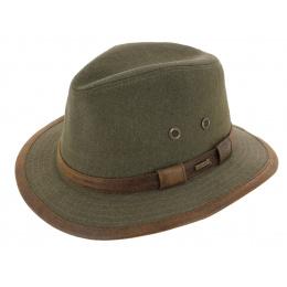 Salford Traveller Hat Olive Cotton - Hatland
