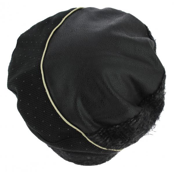 Zlatna Cotton Beret Lined Polar Black - Mtm
