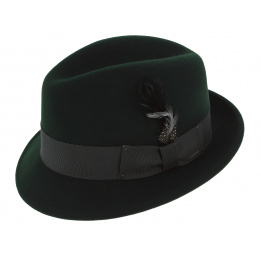 Chapeau tino vert sapin Trilby Bailey