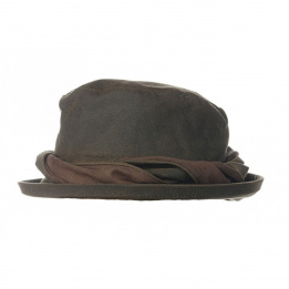 Chapeau cloche venilia oiled cotton