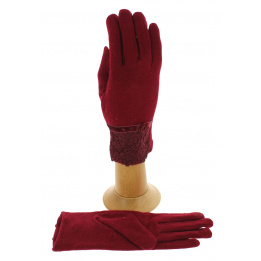 Women's Touch Gloves Red Wool - Traclet