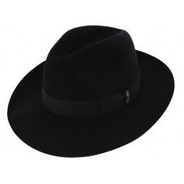 Hat Umberto Fur Felt Black Borsalino