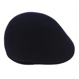 Navy rigid wool domed cap -TRACLET