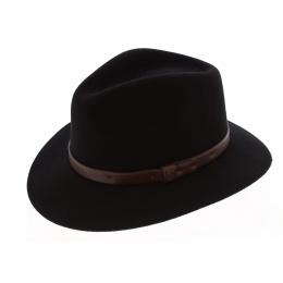 Chapeau Fedora Messer Feutre Laine Noir/Marron - Brixton