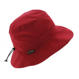 Red rain hat - Gore tex