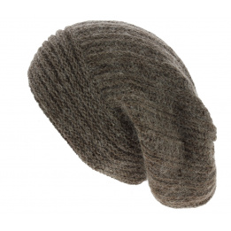 Bonnet Long Whistler Laine & Mohair Marron - Traclet