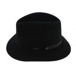 Traveller Hat The Atlas Foldable Felt Black Wool - Coal