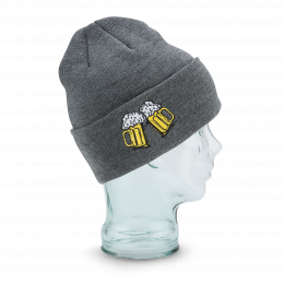 The Crave Short Cap Acrylic Grey - Coal