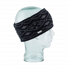 Headband The Whatcom Double Black Polar Fleece - Coal