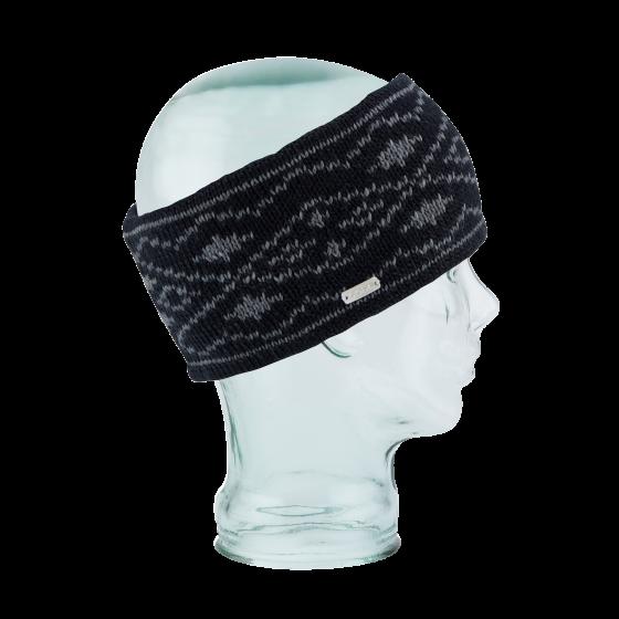 Headband The Whatcom Double Black Polar Fleece - Coal