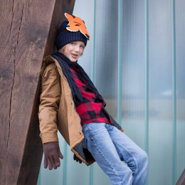 Child barts hat with fox head