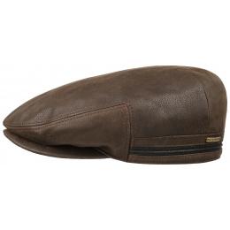 Casquette kent cuir marron cache-oreilles - Stetson