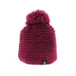 Bonnet pompon Capucine Bordeaux - Chili