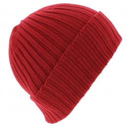 Bonnet cachemire rouge - TRACLET