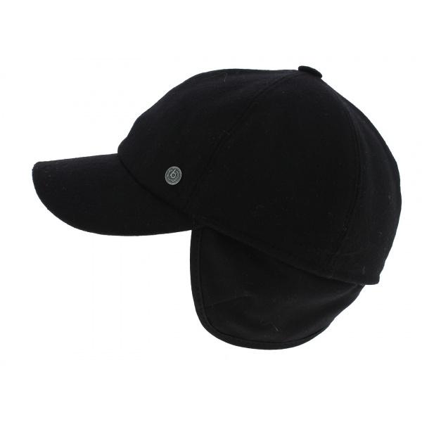 Casquette Baseball Cache-Oreilles Noir - Bugatti