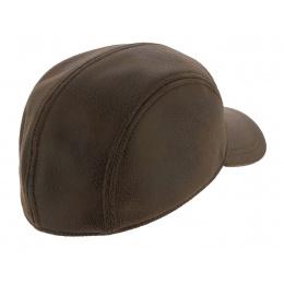 Casquette Baseball Rupper Imitation Cuir Marron Vieilli - Crambes