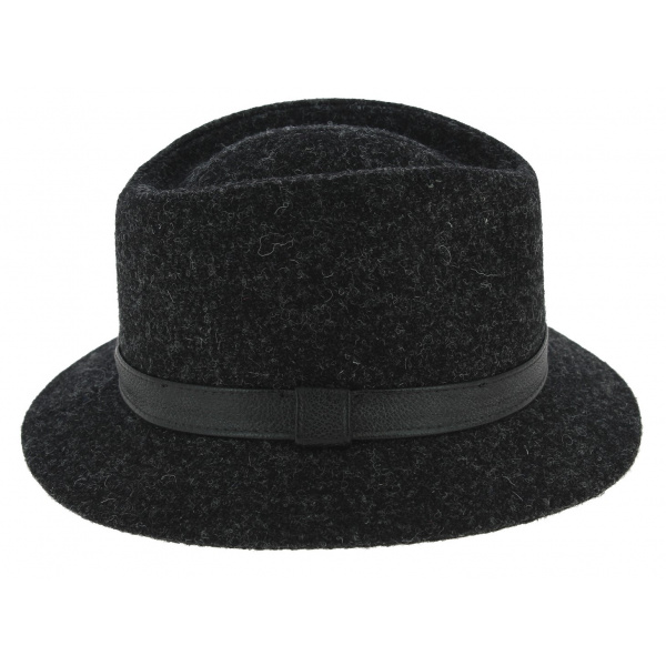 Chapeau Traveller Blarney Laine Harris Tweed Anthracite - Traclet