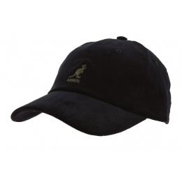 Black Cotton Cord Strapback Cap - Kangol