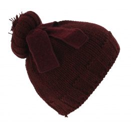 Bonnet The Uniforme burgundy Coal