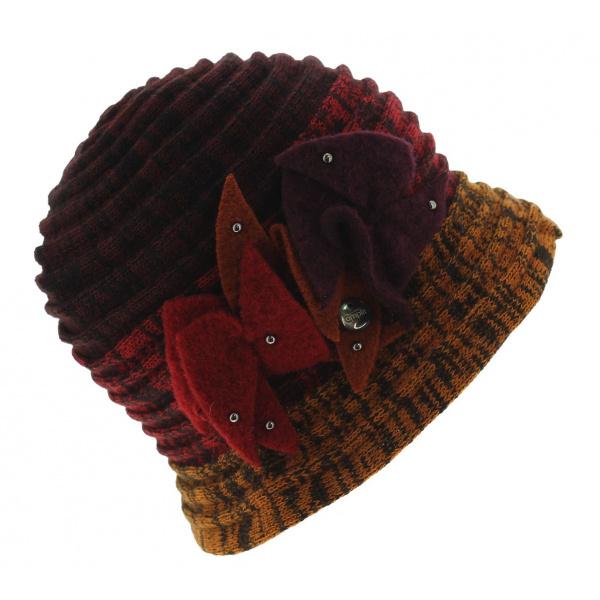 Chapeau Cloche Split Acrylique Rouge - Traclet