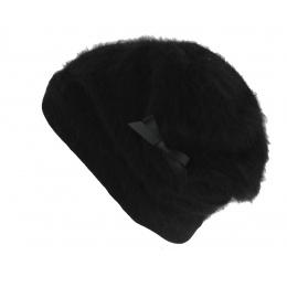 Bonnet Juvenie Angora Noir - Héritage par Laulhère