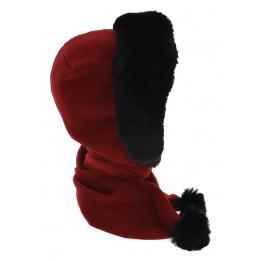 e69a14f754c0 interesting charpe capuche shae polaire fausse fourrure rouge mtm with bonnet  capuche