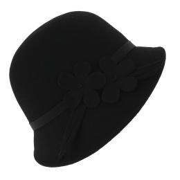 Chapeau cloche Lucia  noir