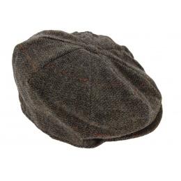 Casquette irlandaise Octagon marron - Hanna hats