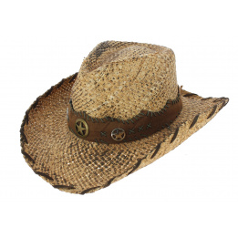 Chapeau Cowboy Shot The Sheriff Paille Naturel - Traclet