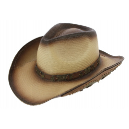 Chapeau Cowboy White Wasteland Paille Papier - Traclet