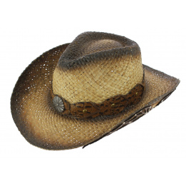 Chapeau Cowboy The Pagan's Paille Naturel - Traclet